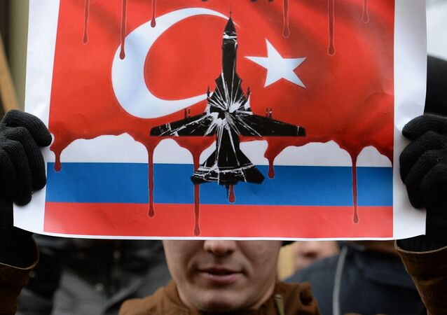 Protests in Moscow against Turkish Air Force's actions. file photo
