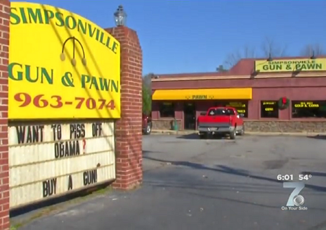 Want to Piss Off Obama? Buy a Gun Shop Sign Reads print screen