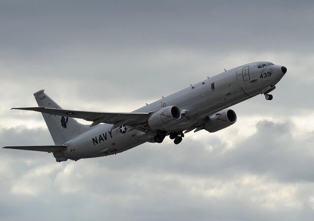 US Navy P-8 Poseidon aircraft