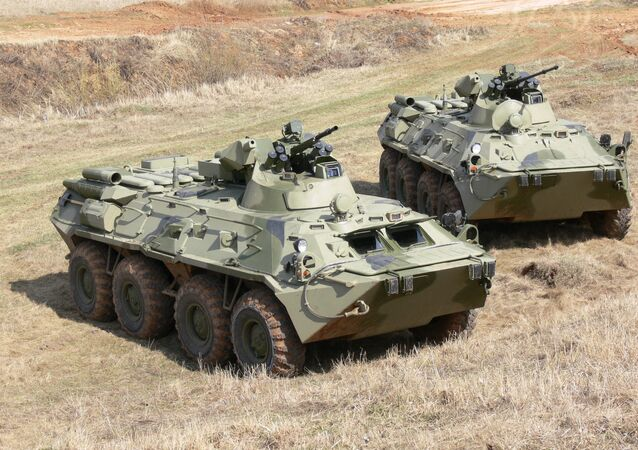 BTR-82 and BTR-82A armored personnel carriers