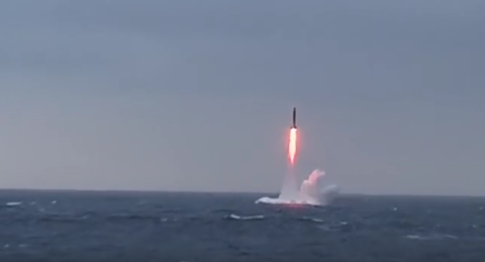Launch of Sineva, intercontinental missile (archive)
