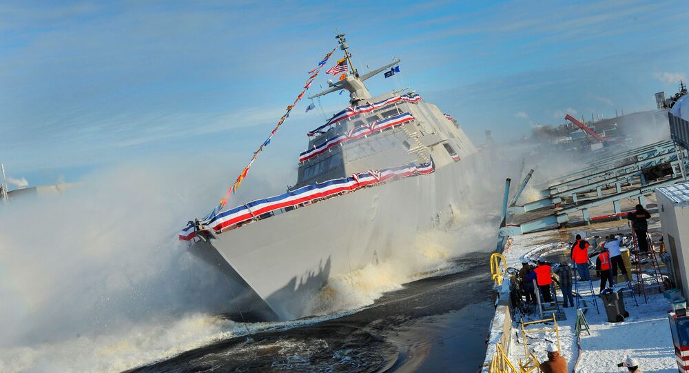 The Lockheed Martin-led industry team celebrated the launch of the nation's fifth Littoral Combat Ship, the future USS Milwaukee. (File)