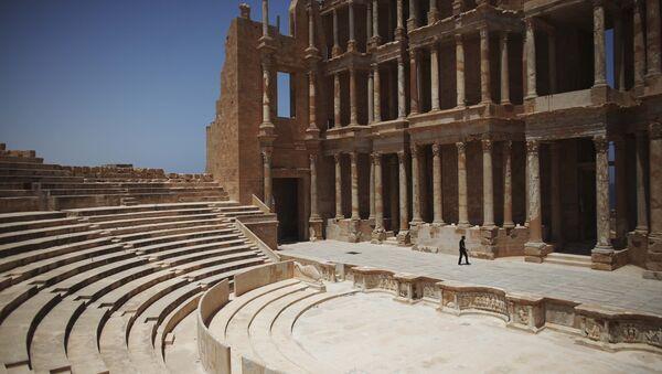 Roman amphitheater at the Sabratha archaeological site in Sabratha Libya - Sputnik International