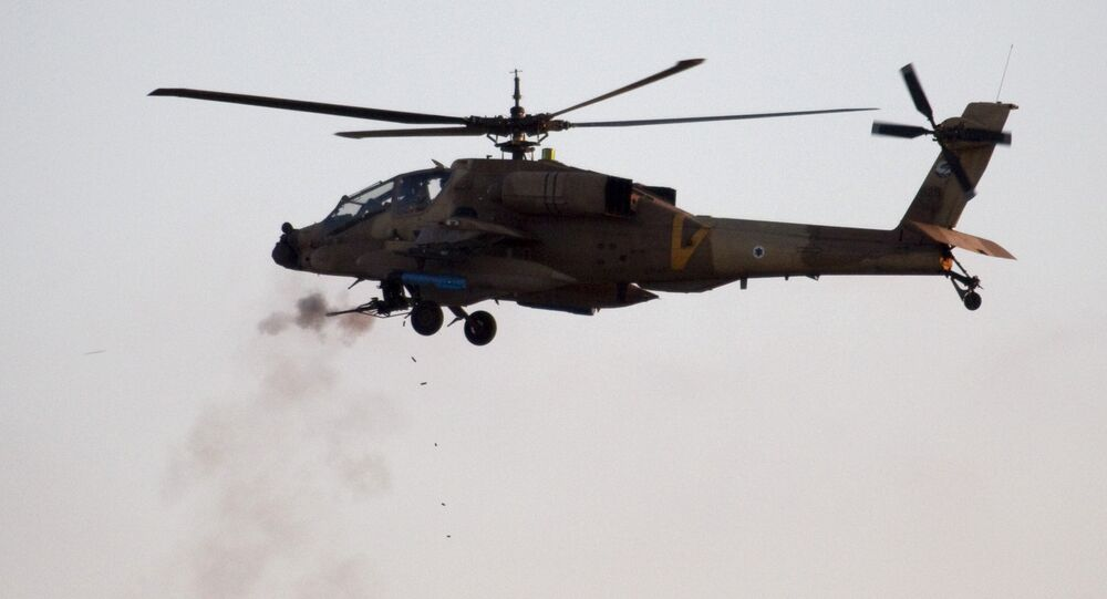 An Israeli AH-64 Apache helicopter