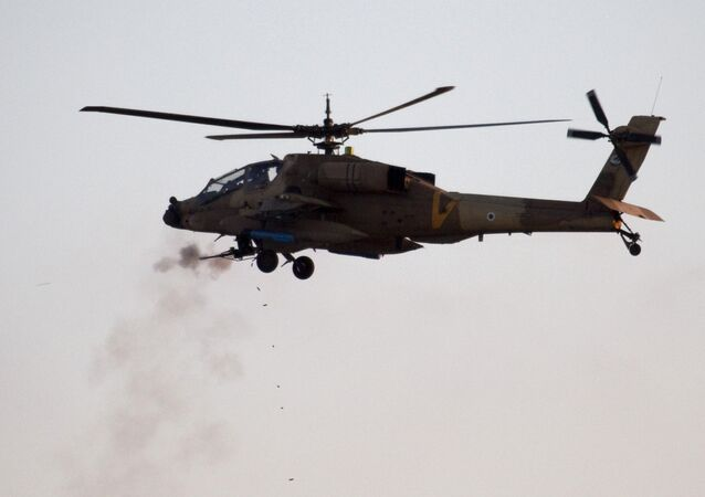 An Israeli AH-64 Apache helicopter