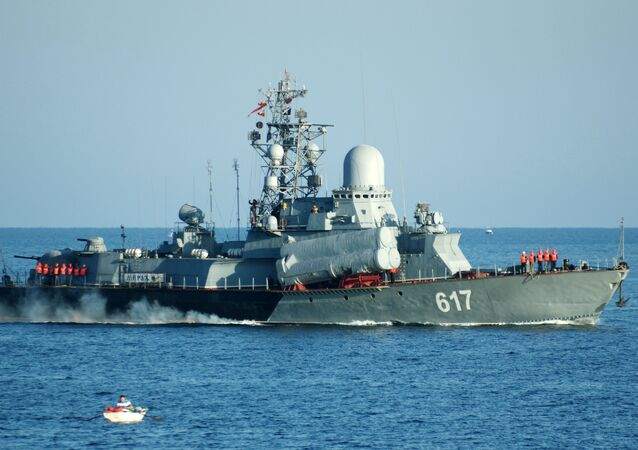 Small missile ship Mirazh of the Russian Black Sea Fleet. File photo