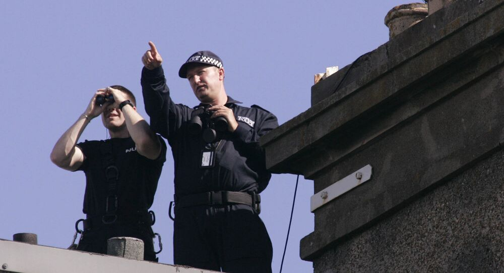 Police officers in Edinburgh, Scotland