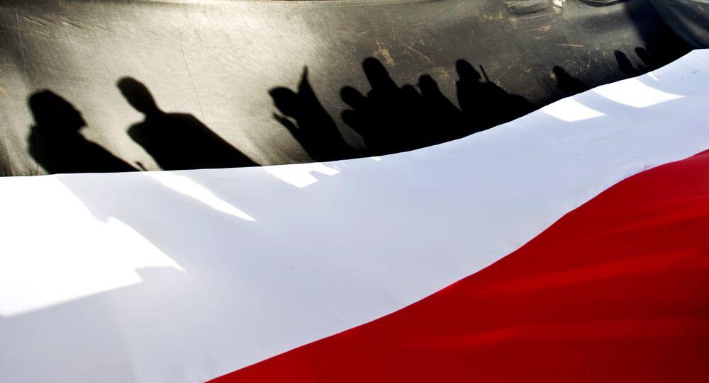 A large representation of the Yemeni flag
