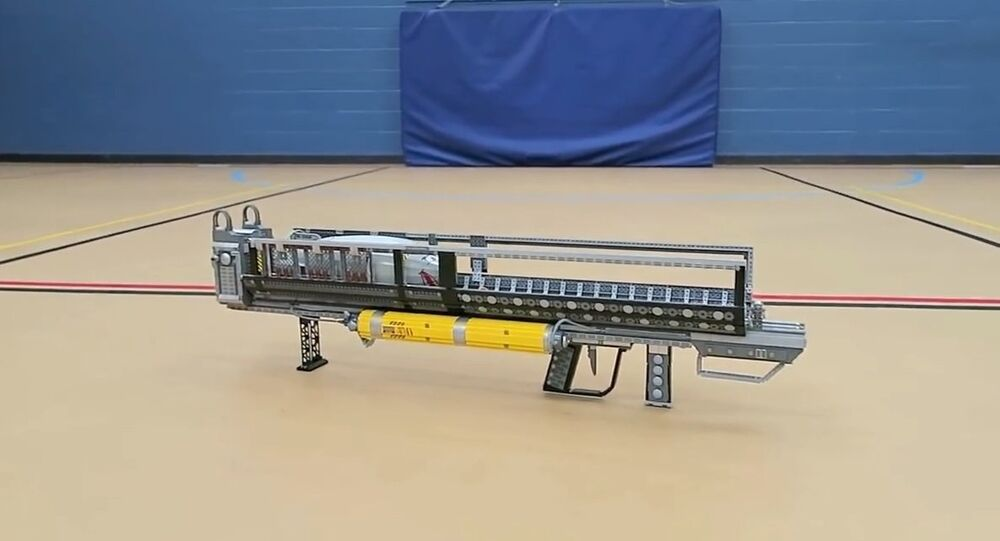 YouTube user ZaziNombies built a full-size extremely accurate replica of a flamethrower using only Legos