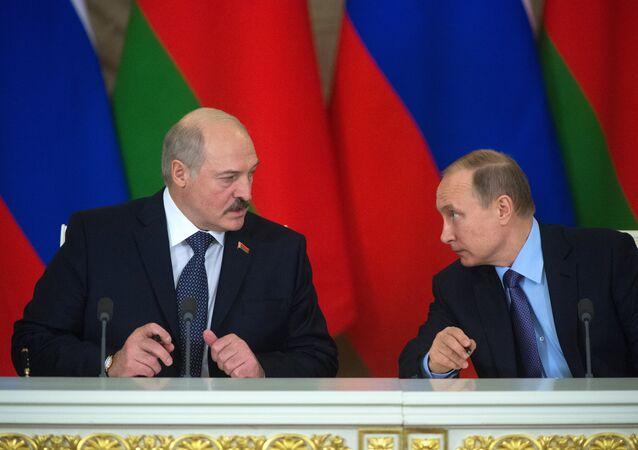 Russian President Vladimir Putin holds Russian-Belarusian talks.