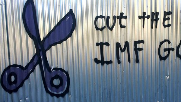 Cut the Debt. IMF Go Home Athens 2015 - Sputnik International