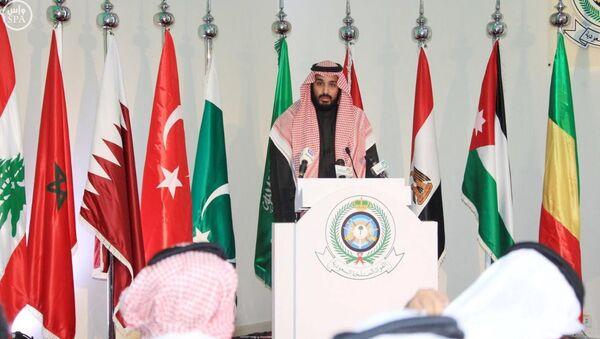 Saudi Deputy Crown Prince and Defence Minister Mohammed bin Salman speaks during a news conference in Riyadh - Sputnik International