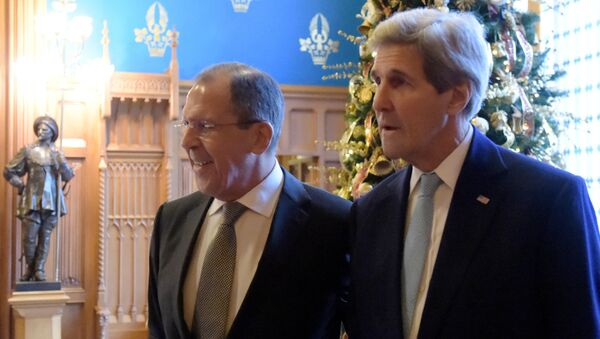 Russian Foreign Minister Sergey Lavrov meets with US Secretary of State John Kerry - Sputnik International