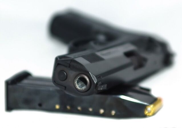 A gun