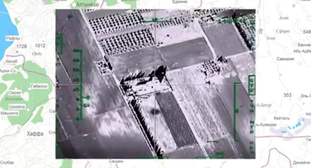 Russian Aerospace Forces deal air strikes at ISIS (Daesh) facilities in Syria