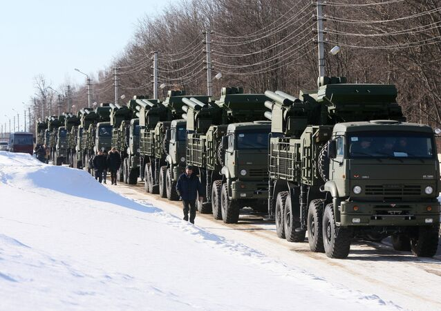 Pantsir-S1 combined short to medium range surface-to-air missile weapon system. File photo