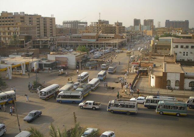 Sudan. Khartoum main centre and street life