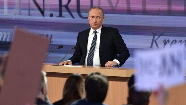 December 17, 2015. Russian President Vladimir Putin at the 11th annual news conference at the World Trade Center on Krasnaya Presnya - Sputnik International