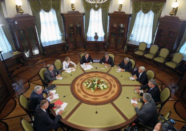 Association Dialogue Franco-Russe in the Kremlin (File)