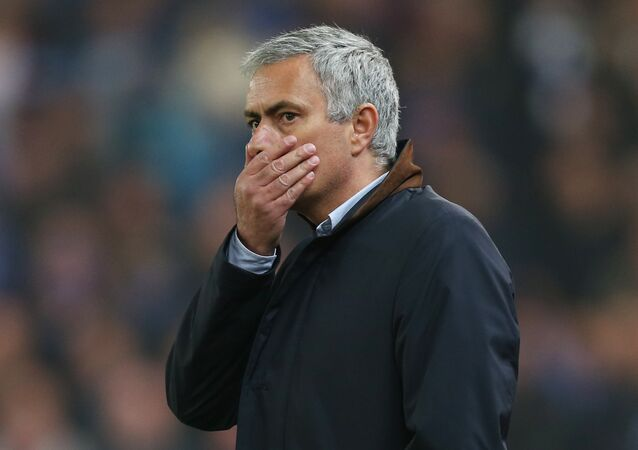 Chelsea manager Jose Mourinho looks dejected
