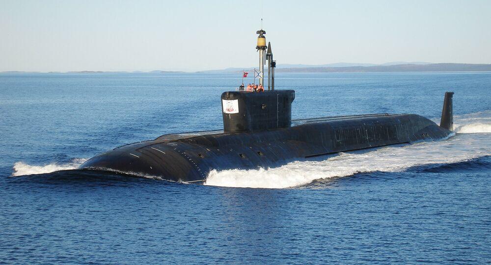 Nuclear submarine (NS) Yuriy Dolgorukiy undergoing sea trials