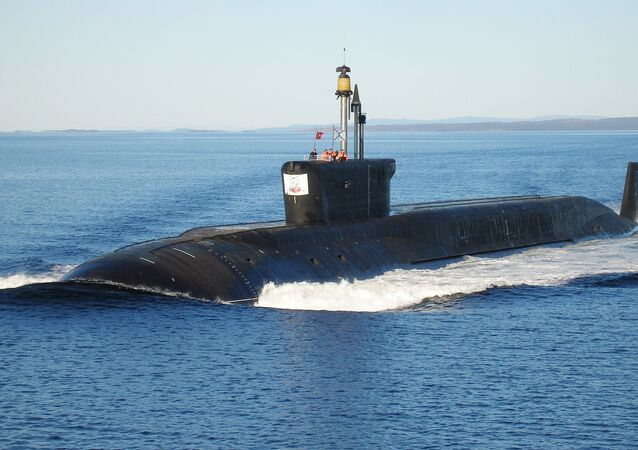 Nuclear submarine (NS) Yuriy Dolgorukiy undergoing sea trials