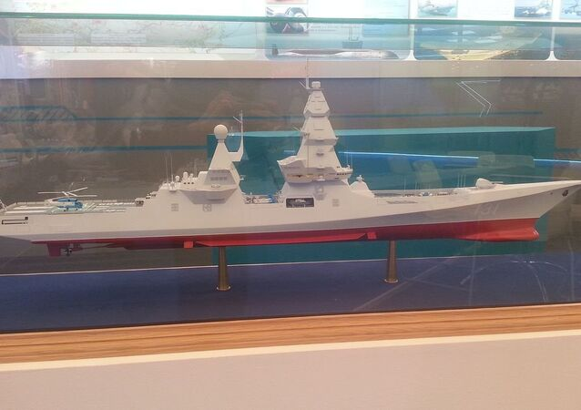 Mock Leader class destroyer on «Army 2015»