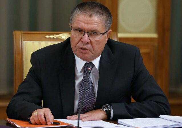 Aleksei Ulyukaev, Minister of Economic Development, attending the Cabinet meeting at the Government House, November 26, 2015