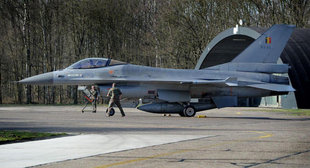 Belgian F-16 jet