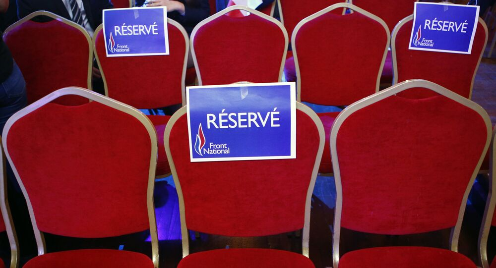 Empty seats are sticked with Reserved National Front