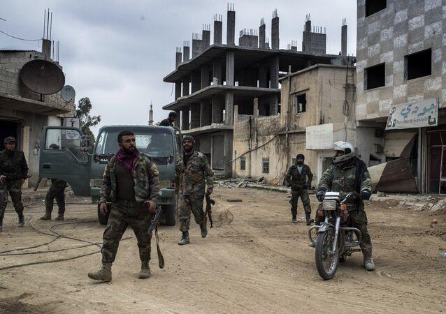 Syrian Arab Army (SAA) soldiers