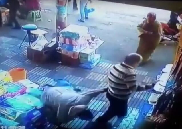 Woman knocks down man who inappropriately touched her