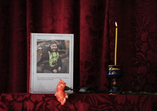 Andrei Stenin Remembrance Day at Gornyatsky School in Snezhnoye