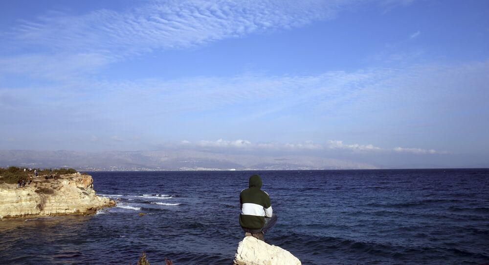 The eastern Aegean Sea.