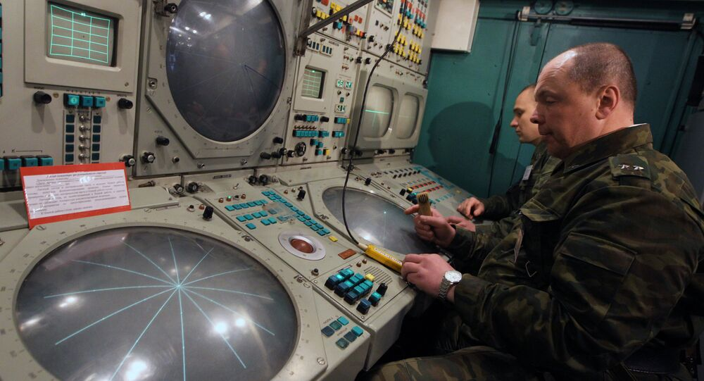 The commander's post of the S-300 crew at the Ashuluk range during air defense drills in the Astrakhan Region (Southern Russia)