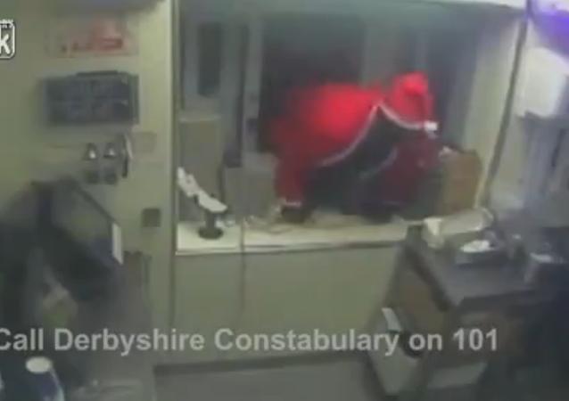 Bad Santa! Thief Dressed as Father Christmas Robs KFC