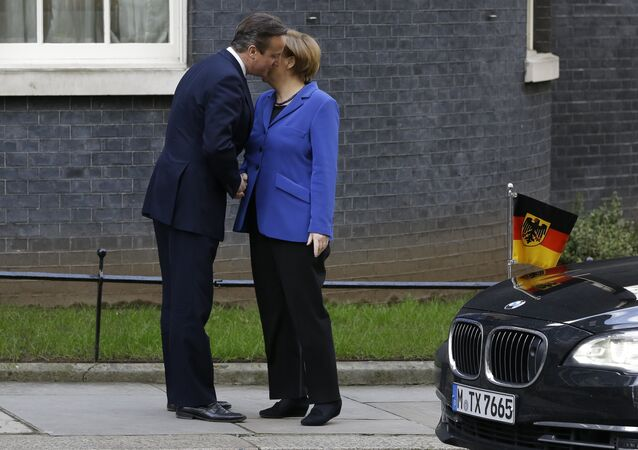 Cameron and Merkel secret meeting
