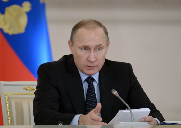 President Vladimir Putin at a meeting of the State Council