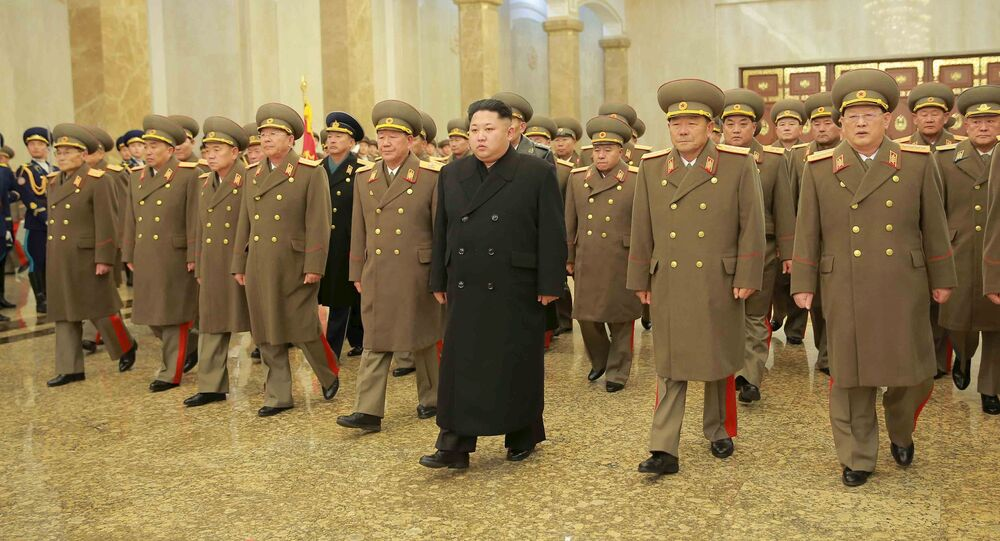 North Korean leader Kim Jong Un visits the Kumsusan Palace of the Sun on a national memorial day in this photo released by North Korea's Korean Central News Agency (KCNA) in Pyongyang December 17, 2015