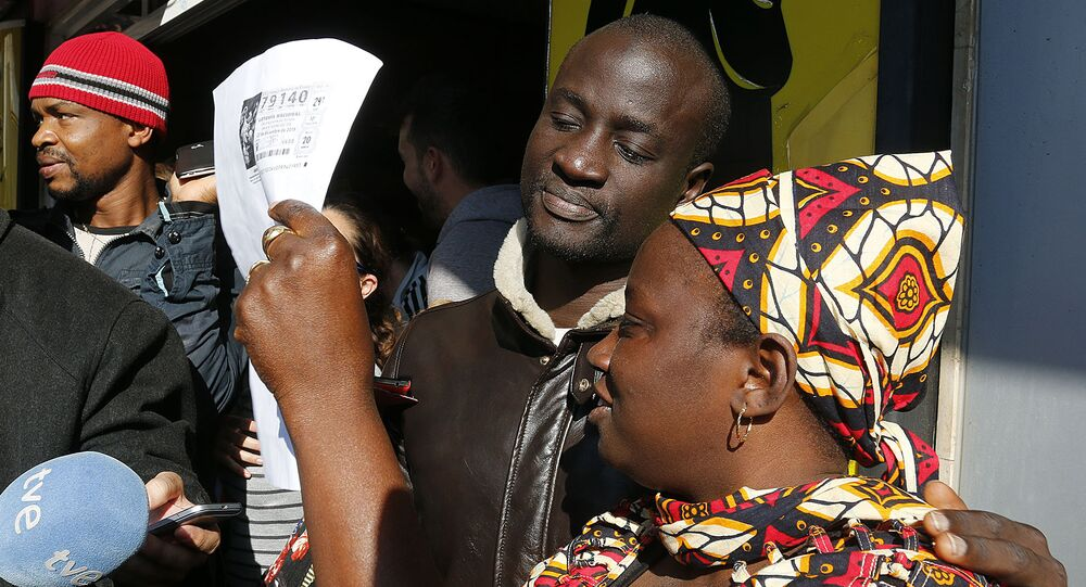 Refugee wins lottery in Spain
