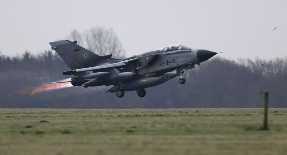 A German air force Tornado jet takes off from the German army Bundeswehr airbase in Jagel, northern Germany December 10, 2015