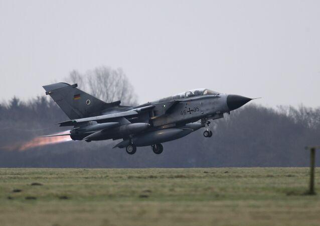 A German air force Tornado jet takes off from the German army Bundeswehr airbase in Jagel, northern Germany December 10, 2015
