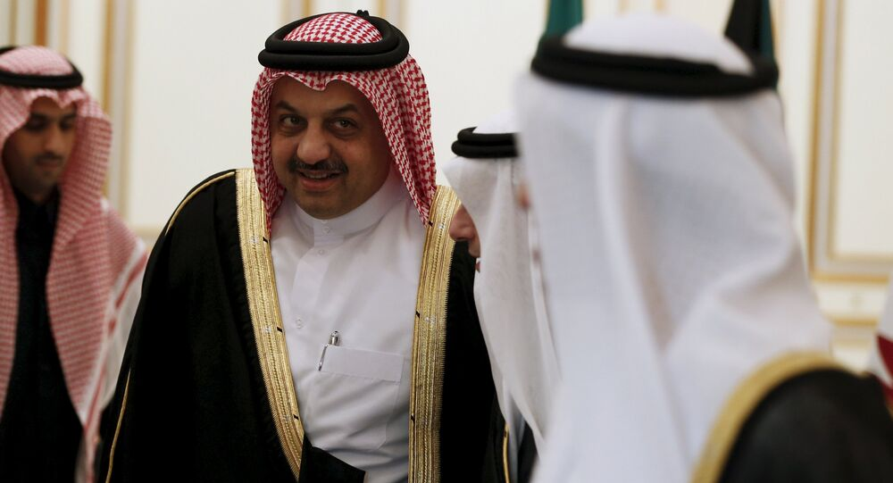 Qatar's Foreign Minister Khalid bin Mohammad Al-Attiyah attends a meeting of foreign ministers from the Persian Gulf states in Riyadh on 7 December 2015.