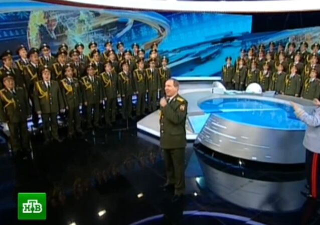 Jingle Bells performed by the ensemble of the Russian Ministry of Interior.