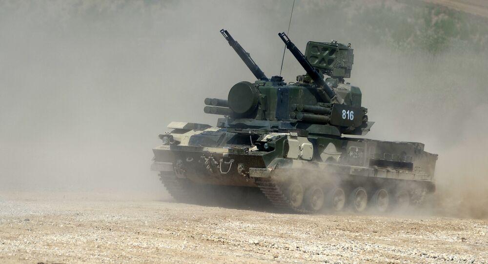 Tunguska antiaircraft gun / surface-to-air missile system