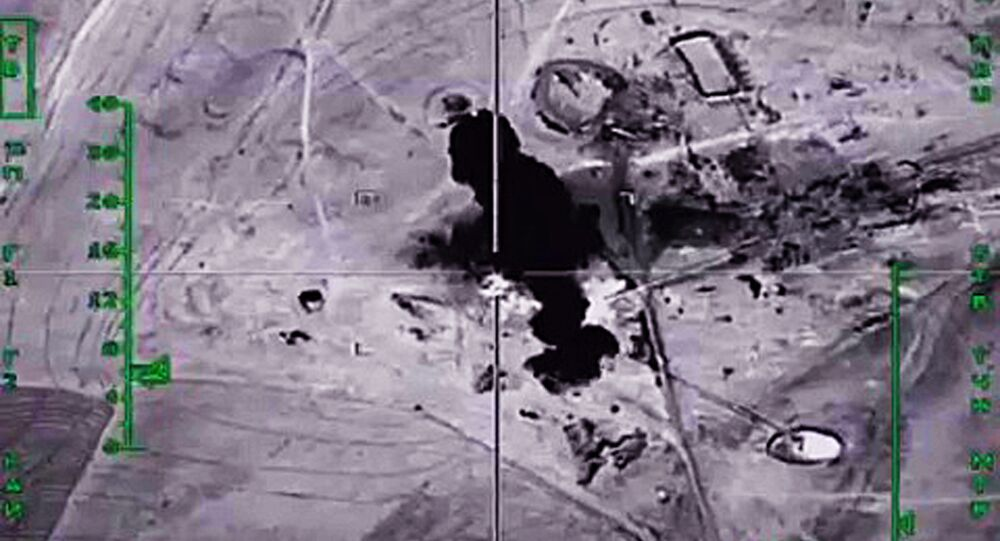 Destruction of oil production and processing facilities in Syria