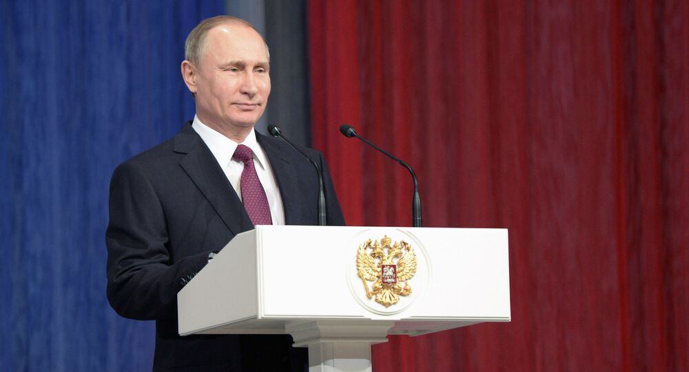 Vladimir Putin attends gala marking Rescue Workers' Day