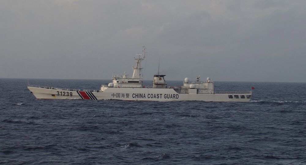 China Coast Guard vessel No. 31239 sails in the East China Sea near the disputed isles known as Senkaku isles in Japan and Diaoyu islands in China, in this handout photo taken and released by the 11th Regional Coast Guard Headquarters-Japan Coast Guard December 22, 2015