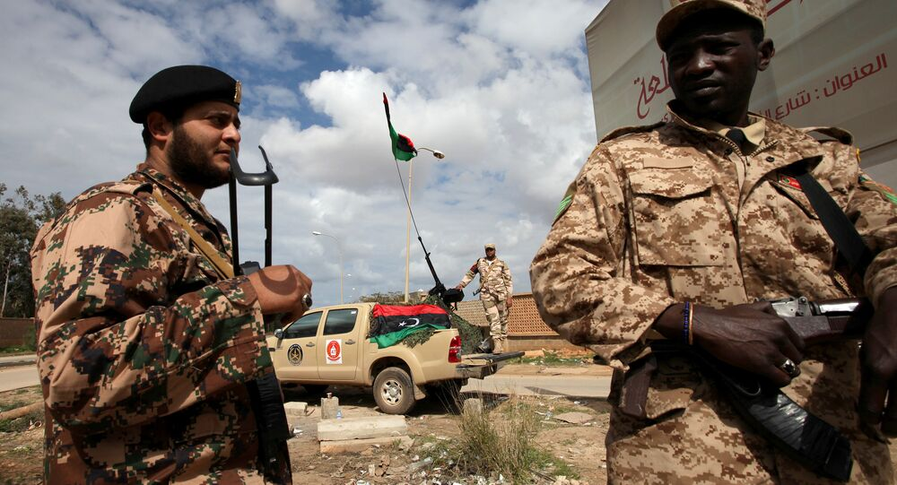 Libyan security forces stands guard in Benghazi, Libya (File)