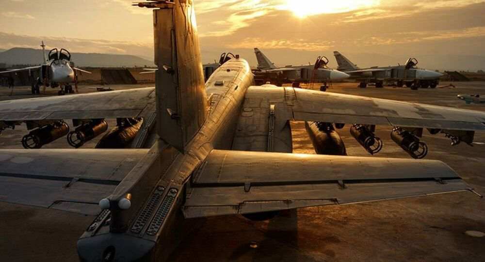 The Russian air group at the Hmeymim airfield in Syria. file photo